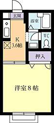 サニーコーポ(真鍋)[0206号室]の間取り
