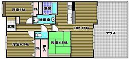 ファミール富田林[1階]の間取り