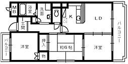 モナーク・シャトー[4階]の間取り