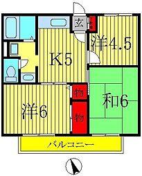 セジュール東初石[1階]の間取り