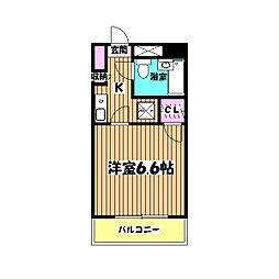 藤和シティコープ[6階]の間取り