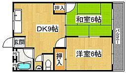 シャトー光[4階]の間取り