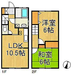 [テラスハウス] 神奈川県鎌倉市台 の賃貸【神奈川県 / 鎌倉市】の間取り