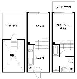 hike〜Skip floor terrace house〜[C号室]の間取り