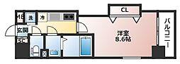 Luxe玉造II[8階]の間取り