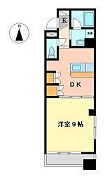 栃木県宇都宮市材木町の賃貸マンションの間取り