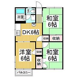 フォーブル太田C棟[2階]の間取り