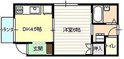 アメニティ21[1階]の間取り