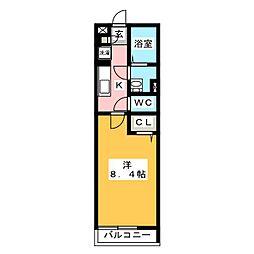 リブリ・カーサ シエテ 1階1Kの間取り