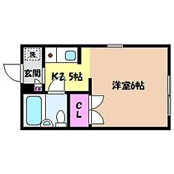 兵庫県神戸市灘区篠原本町1丁目の賃貸アパートの間取り