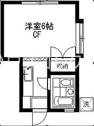 東京都世田谷区松原1の賃貸アパートの間取り