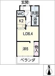 U・TOPIA HILLS[5階]の間取り