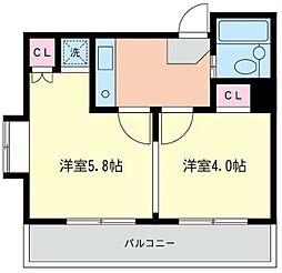 神奈川県川崎市川崎区小田3丁目の賃貸マンションの間取り