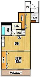 ラコンテ・エム[5階]の間取り