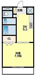 愛知県豊田市平和町3丁目の賃貸マンションの間取り