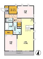 ルーフハウスA[2階]の間取り