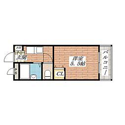 サンハイツ茨木[2階]の間取り