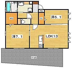 (仮称)D-room山之上4丁目[3階]の間取り