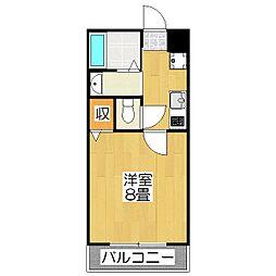 京洛マンション[301号室]の間取り