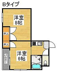 セラ北加賀屋A棟[3階]の間取り