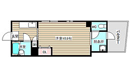 菊花マンション[1階]の間取り