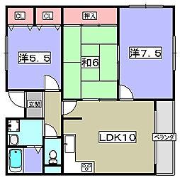 ハイツアジュール[2階]の間取り