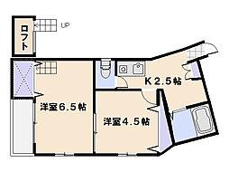 サンシャイン山陽[2階]の間取り