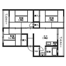 福岡県福岡市博多区麦野3丁目の賃貸マンションの間取り