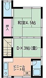 星野アパート[2階号室]の間取り