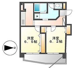 第二プロスパービル[6階]の間取り