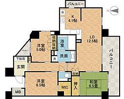 茨木ブライトレジデンス[5階]の間取り