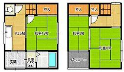 [一戸建] 大阪府大阪市港区三先2丁目 の賃貸【/】の間取り