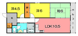 カサベルデイケダI[3階]の間取り