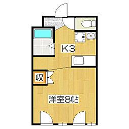 槙島センタービル[401号室]の間取り