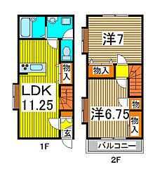 [テラスハウス] 埼玉県さいたま市南区太田窪5丁目 の賃貸【/】の間取り