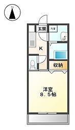 サン笠取[2階]の間取り