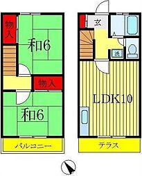 [テラスハウス] 千葉県松戸市六高台7丁目 の賃貸【千葉県 / 松戸市】の間取り
