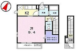 東京都西東京市北町1丁目の賃貸アパートの間取り