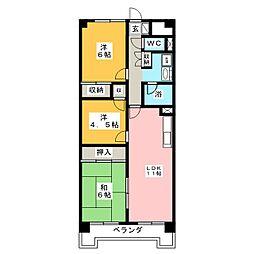 南仙台アルファビル[5階]の間取り