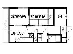 パークサイド仙[2階]の間取り