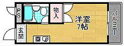 セジュール長尾[2階]の間取り