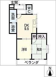 グリンハイツ桂[2階]の間取り