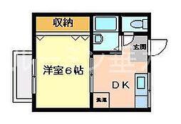 ビュー舞子坂[1階]の間取り