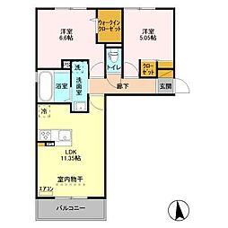 仮)D-Roomニューレセンテ都町[1階]の間取り