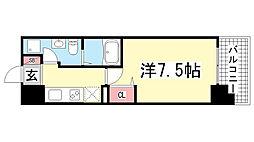 アドバンス神戸プラージュ[402号室]の間取り