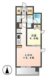 仮)泉三丁目マンション[4階]の間取り