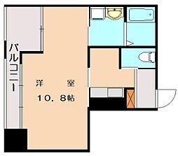 JR鹿児島本線 香椎駅 徒歩3分の賃貸マンション 4階1Kの間取り