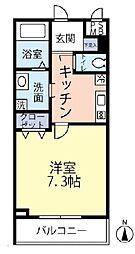 JR中央線 四ツ谷駅 徒歩6分の賃貸マンション 2階1Kの間取り