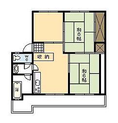 小村アパート[402号室]の間取り