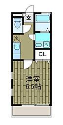 東京都町田市能ヶ谷7丁目の賃貸アパートの間取り